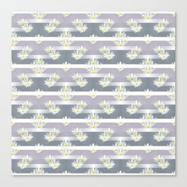 Mix of formal and modern with anemones and stripes 2 Canvas Print