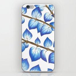 Breezy Blue Leaves iPhone Skin