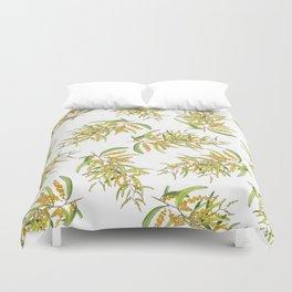 Australian Wattle Flower, Illustration Duvet Cover