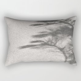 Grey Tree Branch Shadows and Texture Rectangular Pillow