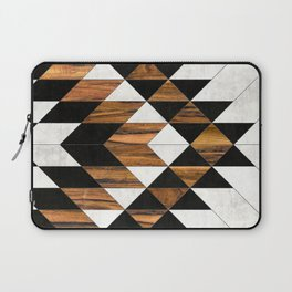 Urban Tribal Pattern No.9 - Aztec - Concrete and Wood Laptop Sleeve