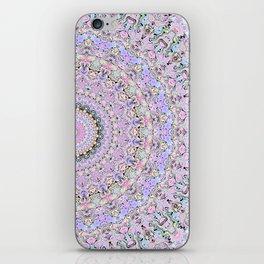 Marbled Pastel Mandala iPhone Skin