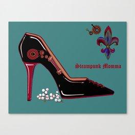 "A Steampunk Stiletto ""Steampunk Momma"" Canvas Print"