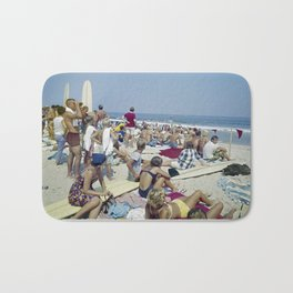 1970's Surfing Competition in Virginia Beach, VA Bath Mat