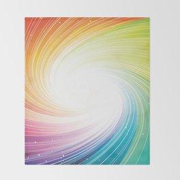 Rainbow background Throw Blanket