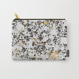 Gold Speckled Terrazzo Carry-All Pouch