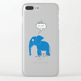 Sad Elephant Clear iPhone Case