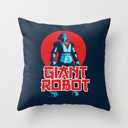 Giant Robot Throw Pillow
