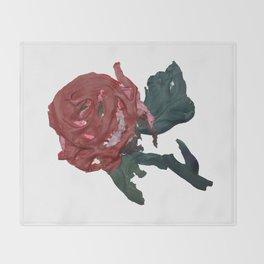 Red Rose Throw Blanket
