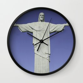 Detailed closeup of the Christ the Redeemer statue in Brazil Wall Clock