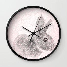 Rabbit in pink and gray, Baby Animal mosaic Wall Clock