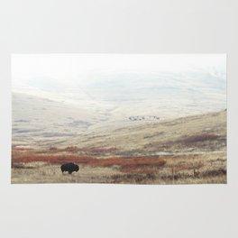 Lone Bison on National Bison Range in Montana Rug
