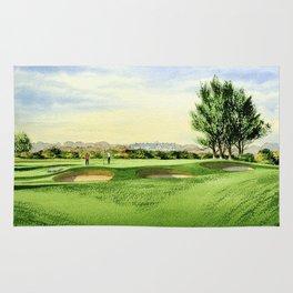 Carnoustie Golf Course Scotland 13th Green Rug