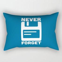Never Forget Floppy Disk Rectangular Pillow