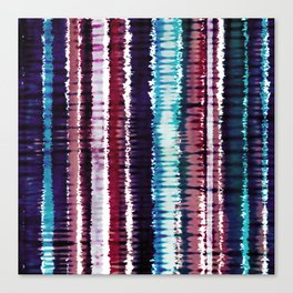 Bohemian Style Tie dye Stripes Design Canvas Print