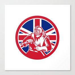 British Sandblaster Union Jack Flag Canvas Print