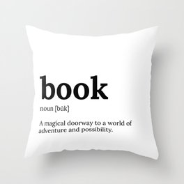 book definition Throw Pillow
