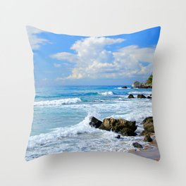 Corfu Island Greece Throw Pillow