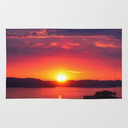 Last Light of the Day - Molde, Norway Rug