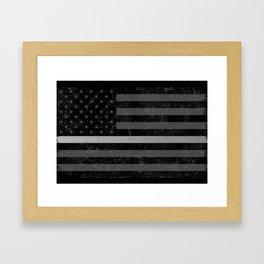 Thin Silver Line Framed Art Print