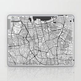 Jakarta Map Gray Laptop & iPad Skin