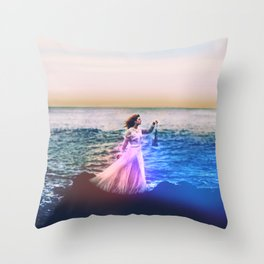 Her & the Sea Throw Pillow