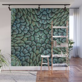 Classic Peacock Feather Kaleidoscope  Wall Mural
