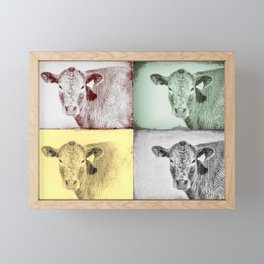 Here's Looking at Moo Framed Mini Art Print