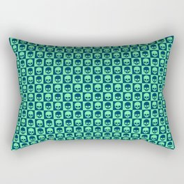 Checkered Skulls Pattern III Rectangular Pillow