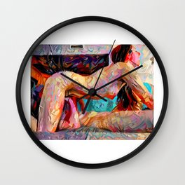 Touch Me Deeply Wall Clock