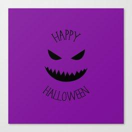 Happy Halloween - Purple Jack O Lantern Canvas Print