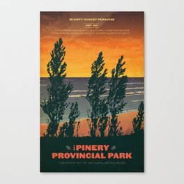 Pinery Provincial Park Poster Canvas Print