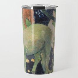 The White Horse by Paul Gauguin Travel Mug