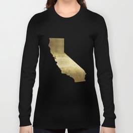 california gold foil state map  Long Sleeve T-shirt