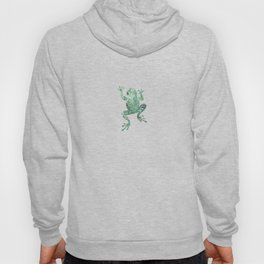 green lichen crawling frog silhouette Hoody