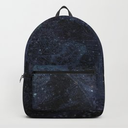 Antique World Star Map Navy Blue Backpack
