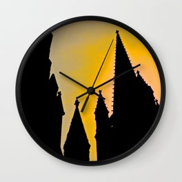 Steeple Sunrise Wall Clock