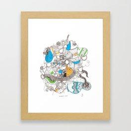 A Complex Cloud Framed Art Print