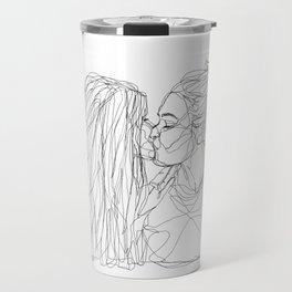 Girls kiss too Travel Mug