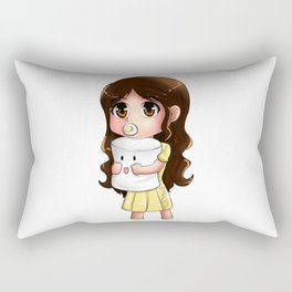 Baby Maine and Mr. Marshmallow Rectangular Pillow