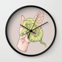 Hand Study No.2 // The Snake One Wall Clock