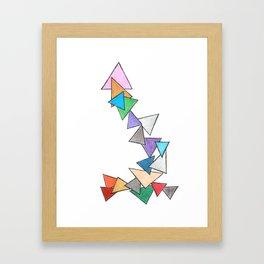 TUMBLING TRIANGLES Framed Art Print
