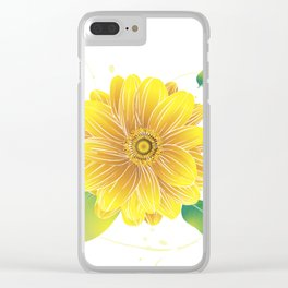 Helianthus - The Color of Vitality, Intelligence and Happiness Clear iPhone Case
