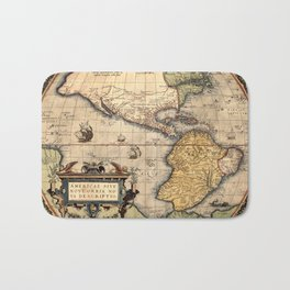 Map Of America 1570 Bath Mat