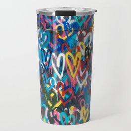 Graffiti Hearts Travel Mug