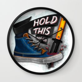 Hold this position ! Wall Clock