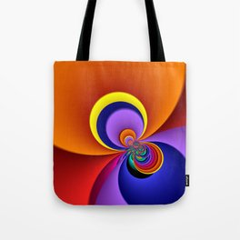 time for fractals -5- curtain Tote Bag