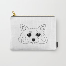 Red Panda Solo B&W Carry-All Pouch