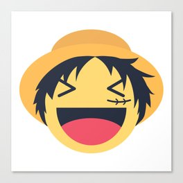 Monkey D. Luffy Emoji Design Canvas Print