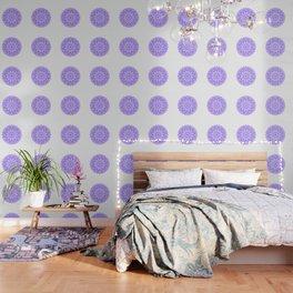 Mandala 12 / 1 eden spirit purple lilac white Wallpaper